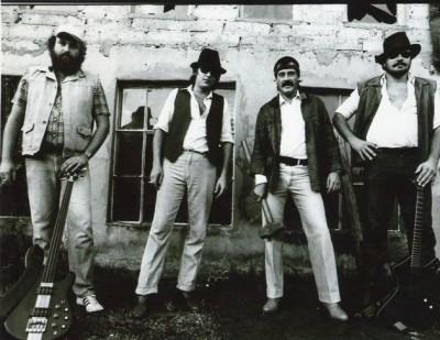 Eric Birckenstock, Piet Botha, Jan Maloney,  Boet Faber First rehearsals at Slowfarm, 1984