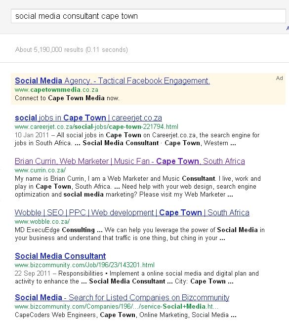 social media consultant cape town