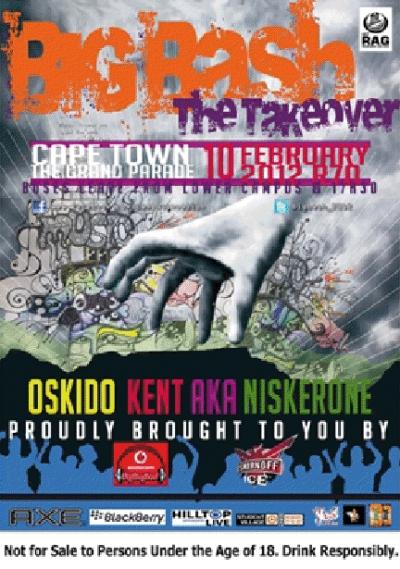 UCT RAG Presents: Big Bash 2012 =====> The Takeover