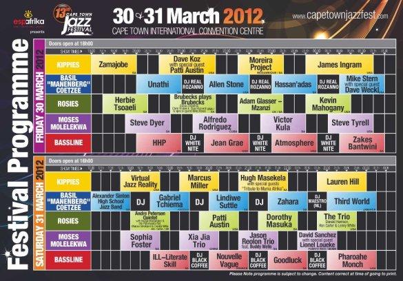 Cape Town Jazz Fest 2012