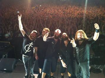 In Flames after their set in Johannesburg. Photo: RAMfest2012