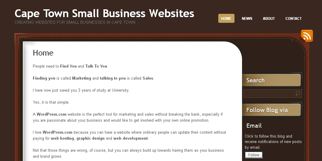 Cape Town Small Business Websites - Creating websites for small businesses in Cape Town