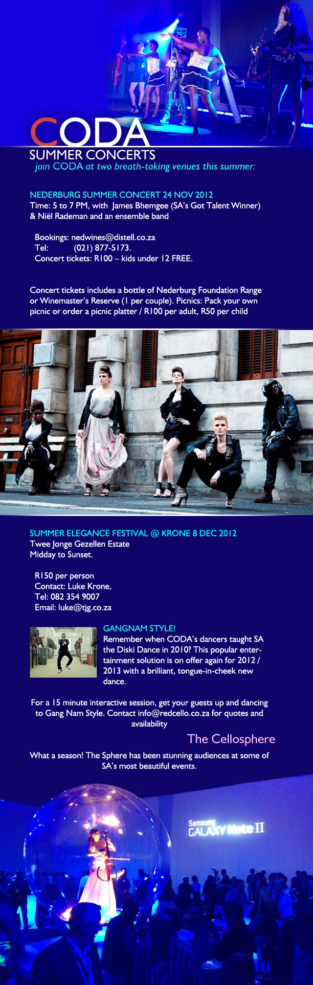 CODA Summer Concerts