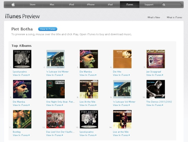 Piet Botha on iTunes